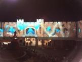 ラグナシアのエントランス広場(夜)