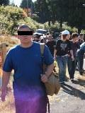 比叡山に登る学生