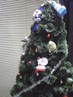 クリスマスツリー・学生が飾り付け