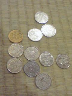 ゲームのコイン。いっぱい出てきた。