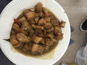 中国の豚の煮込み料理。ご飯に合います