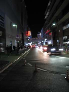「京都駅よりビックカメラ方面を見る」