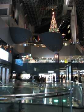 2008年京都駅のクリスマスツリー