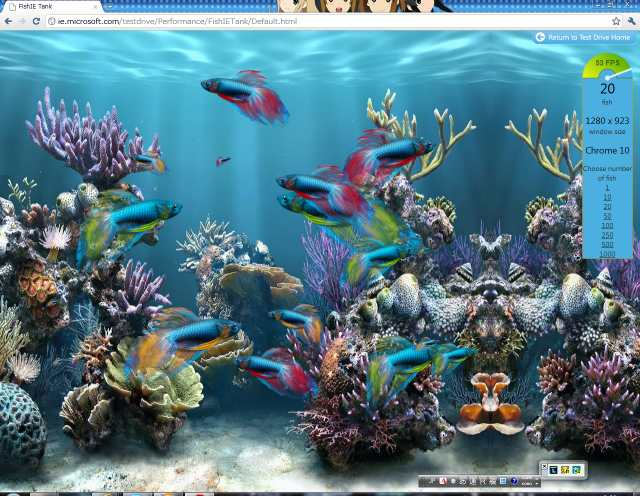 ChromeでFish Tank