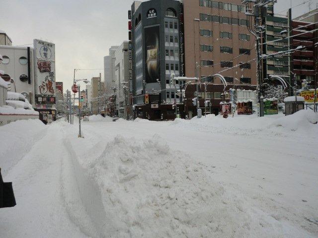 大雪の札幌