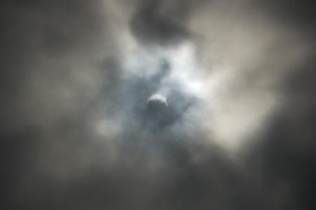 7/22 11:10の京都市南区の日食具合