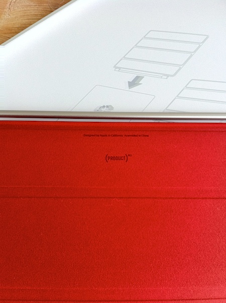 Smart Cover (PRODUCT) RED 印字
