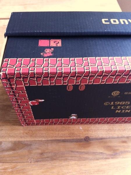 CONVERSE ALL STAR SUPER MARIOの箱が素晴らしすぎる。