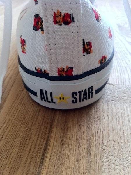 スーパーマリオオールスターのヒールにもスターが。