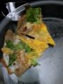 玉子とチーズ入り皮