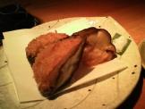 豆ちゃのしいたけと海老の揚げ物