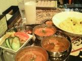 インド料理シャルマの3種類カレーセット