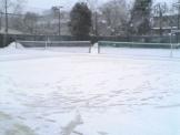 パブリック宝ヶ池テニススクールの雪模様