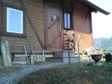 福知山の手作りログハウス玄関