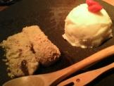 豆ちゃのデザート(わらび餅とヨーグルトアイス)