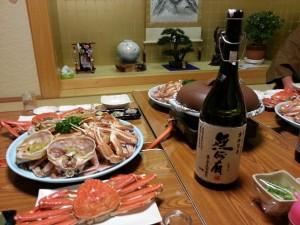 20131206_海士館松栄のカニとイモ焼酎[1]