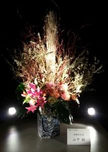20131223_嵐山花灯路のいけばな3