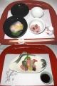 赤飯とさしみ 京都の会席