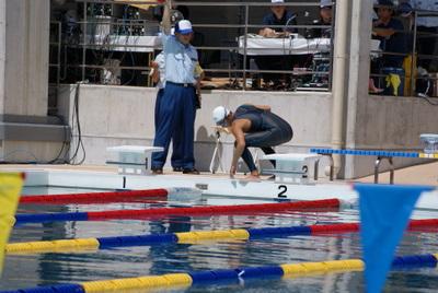 第39回全国消防救助技術大会・溺者搬送スタート直前