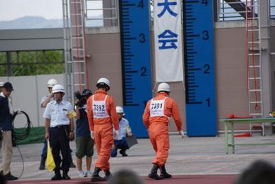 第39回全国消防救助技術大会・ほふく救出の部スタート直前