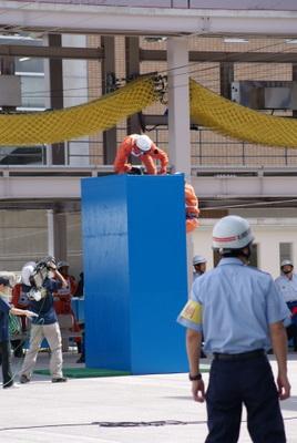 第39回全国消防救助技術大会・陸上の部・障害突破「登る」