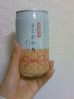 新潟県コシヒカリ缶