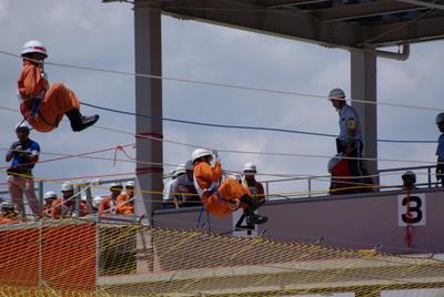 第39回全国消防救助技術大会・ロープブリッジ救出8