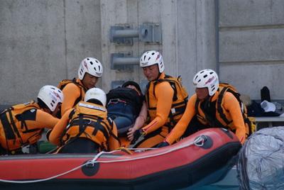 第39回全国消防救助技術大会・水上の部・岡山市消防局・特別高度救助隊・技術訓練