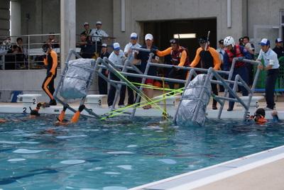 第39回全国消防救助技術大会・岡山市消防局特別高度救助隊・技術訓練