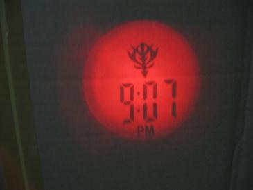 セブンイレブンフェア機動戦士ガンダムプロジェクタークロック・点灯時」