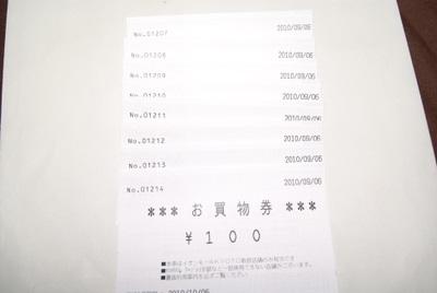 イオンモールKyotoスロット当選お買い物チケット