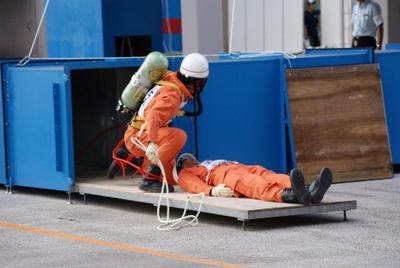第39回全国消防救助技術大会・ほふく救出の部北海道の消防士さん
