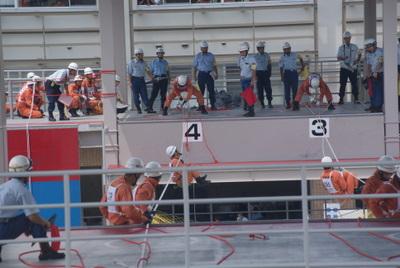 第39回全国消防救助技術大会・ロープブリッジ救出5
