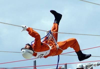 第39回全国消防救助技術大会・ロープブリッジ救出