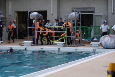 第39回全国消防救助技術大会・水上の部・技術訓練・岡山市消防局特別高度救助隊
