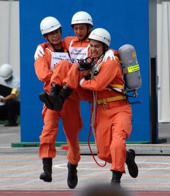 第39回全国消防救助技術大会・ほふく救出・山口代表