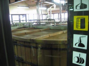 サントリーウイスキー・ウイスキー仕込み発酵用の樽