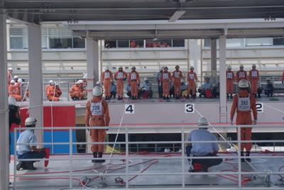 第39回全国消防救助技術大会・ロープブリッジ救出1