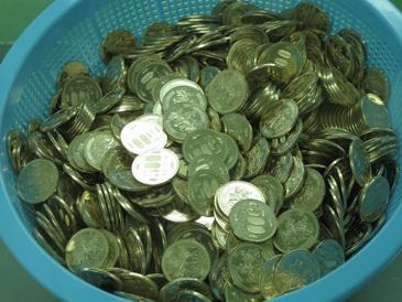 大阪造幣局出来立て500円玉