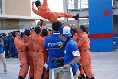 第39回全国消防救助技術大会・閉会式・東京消防庁の人々