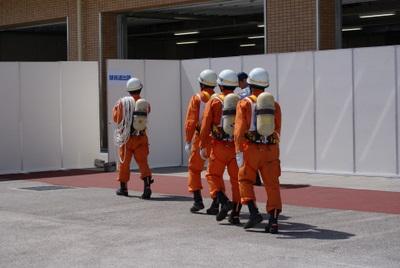 第39回全国消防救助技術大会・陸上の部・障害突破終了