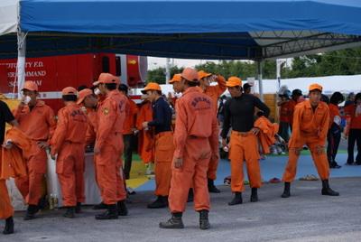 第39回全国消防救助技術大会・閉会式・高岡市消防局