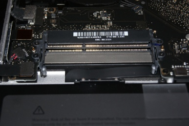 MBP15のメモリスロットをからっぽにする