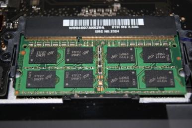 MBP15のメモリ
