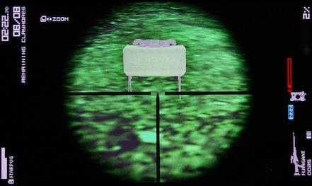 暗視状態のクレイモア地雷の表