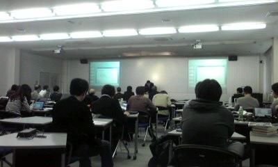 京都情報大学院大学の卒業発表会