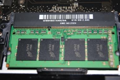 MBP15に4GBのメモリを挿す,完成