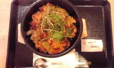 イオンモールKYOTOフードコート:韓国厨房 尹家の食卓の石焼激辛豚カルビ丼