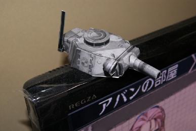 戦ヴァル2のペーパークラフト砲台のアップ
