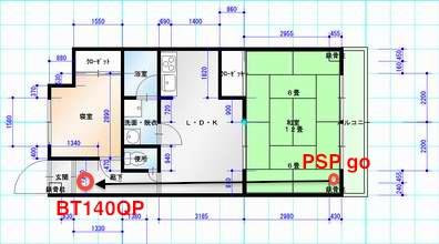 PSP goとDR-BT140Qの通信距離